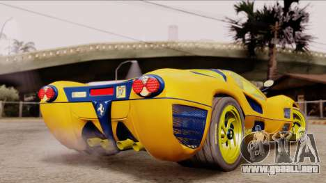 Ferrari P7 Gold para GTA San Andreas left