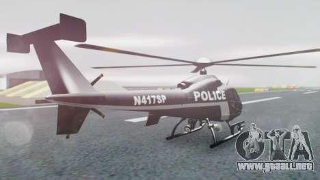New Police Maverick para GTA San Andreas left