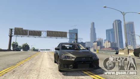 GTA 5 Mitsubishi Lancer Evolution X FQ-400 v2 vista lateral trasera derecha