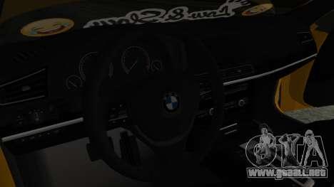 BMW 750Li M Sport para la visión correcta GTA San Andreas