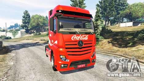 Mercedes-Benz Actros Euro 6 [Coca-Cola] para GTA 5