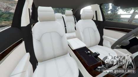 GTA 5 Audi S8 Quattro 2013 v1.2 vista lateral derecha