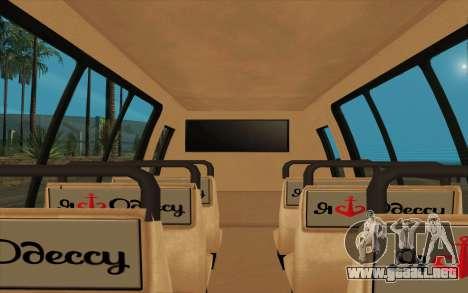 Iveco Custom Odessa para GTA San Andreas vista posterior izquierda