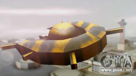 Alien Ship Yellow-Black para GTA San Andreas left