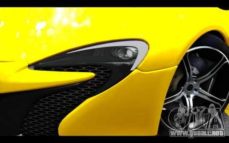 McLaren 650S Coupe para GTA San Andreas vista hacia atrás