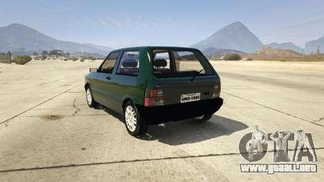 GTA 5 Fiat Uno 1995 vista lateral izquierda trasera