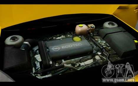 Opel Vectra Special para la vista superior GTA San Andreas