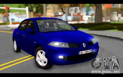 Renault Megane Sedan para GTA San Andreas