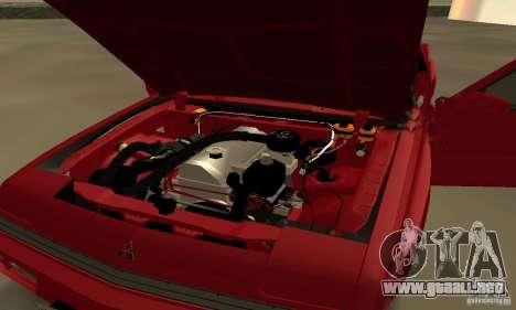 Mitsubishi Starion ECI-R para GTA San Andreas vista hacia atrás
