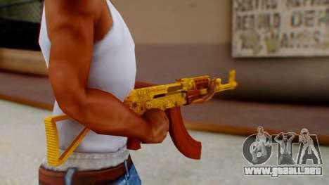 GTA 5 Assault Rifle Luxury Camo para GTA San Andreas tercera pantalla