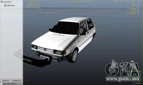 GTA 5 Fiat Uno 1995 vista lateral derecha