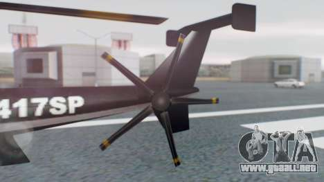 New Police Maverick para GTA San Andreas vista posterior izquierda