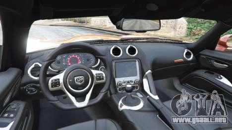 Dodge Viper SRT 2014 para GTA 5