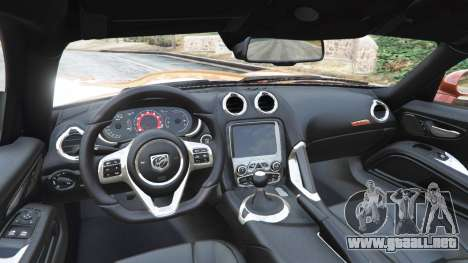 GTA 5 Dodge Viper SRT 2014 vista lateral trasera derecha