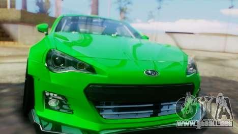 Subaru BRZ 2013 Rocket Bunny para visión interna GTA San Andreas