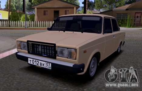 VAZ 2107 KBR para GTA San Andreas left