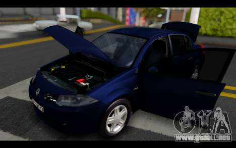 Renault Megane Sedan para vista lateral GTA San Andreas