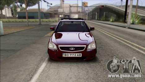 Lada Priora Ukrainian Stance para la visión correcta GTA San Andreas