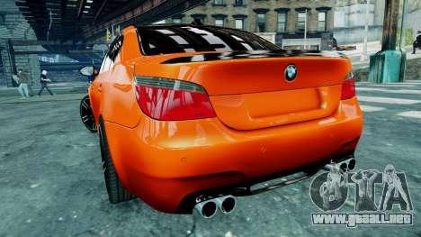 BMW M5 E60 para GTA 4 vista interior