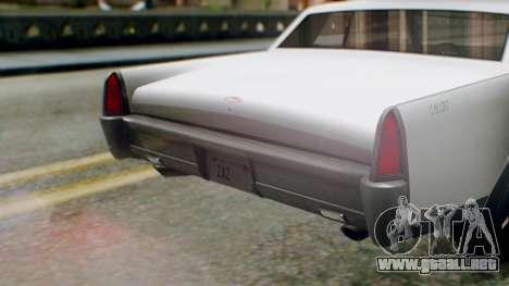 GTA 5 Vapid Chino Tunable IVF PJ para visión interna GTA San Andreas