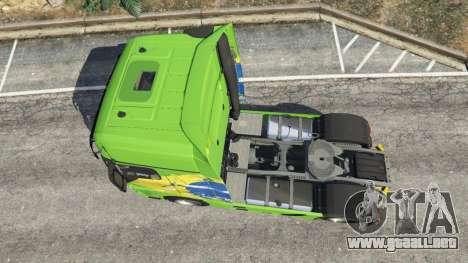 GTA 5 Mercedes-Benz Actros Euro 6 [Brasil] vista trasera