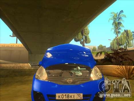 Nissan Note v0.5 Beta para vista lateral GTA San Andreas
