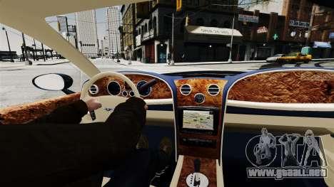 Bentley Continental 2010 Flying Spur Beta para GTA 4 visión correcta