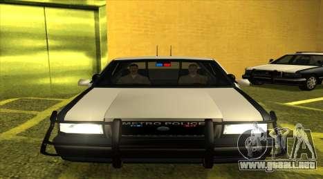 Police SF para GTA San Andreas vista posterior izquierda