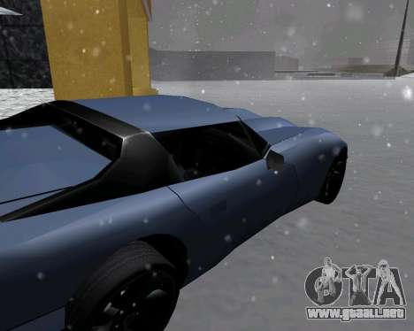 Nueva Banshee con techo para GTA San Andreas vista posterior izquierda