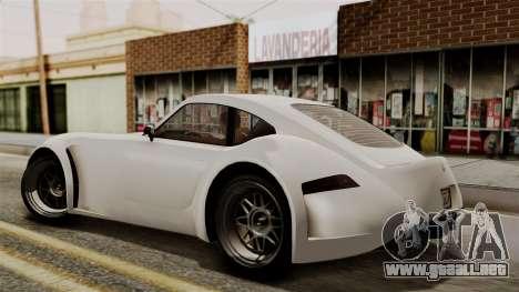 GTA 5 Bravado Verlierer IVF para GTA San Andreas vista posterior izquierda