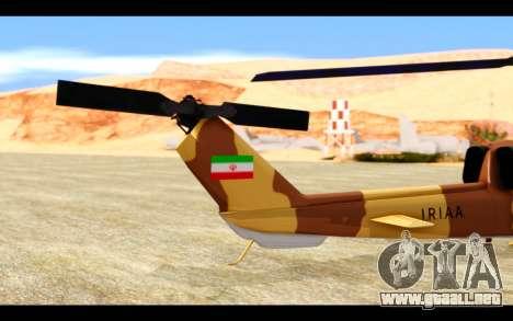 AH-1W IRIAF SuperCobra para visión interna GTA San Andreas