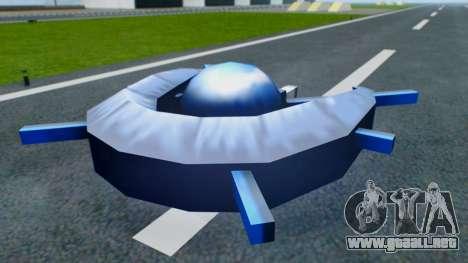 Alien Ship Dark Blue para la visión correcta GTA San Andreas