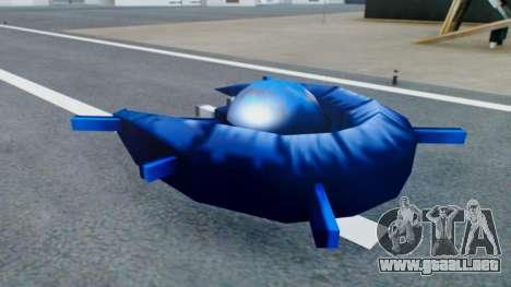 Alien Ship Dark Blue para GTA San Andreas vista posterior izquierda