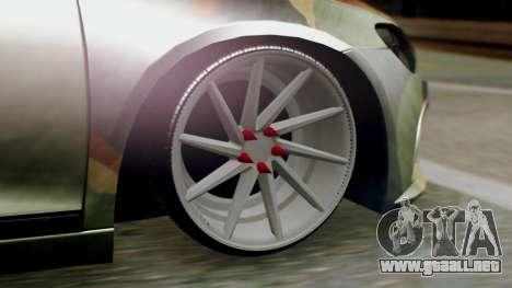 Volkswagen Scirocco R Army Edition para GTA San Andreas vista posterior izquierda