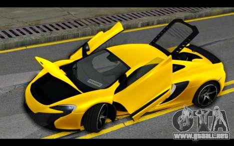 McLaren 650S Coupe para el motor de GTA San Andreas