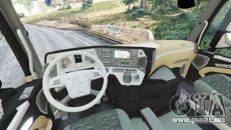 GTA 5 Mercedes-Benz Actros Euro 6 [Coca-Cola] vista lateral trasera derecha