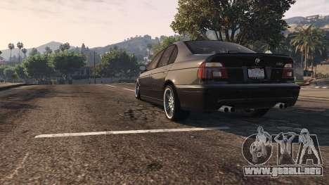 GTA 5 BMW M5 E39 1.1 vista trasera