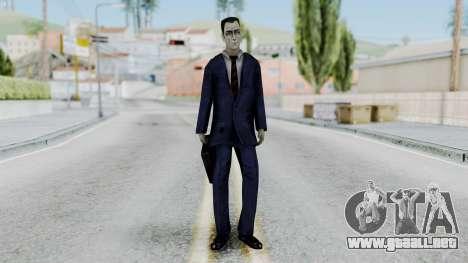 GMAN v1 from Half Life para GTA San Andreas segunda pantalla