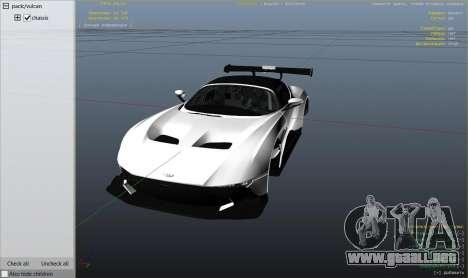 GTA 5 Aston Martin Vulcan v1.0 vista lateral trasera derecha