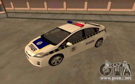 Toyota Prius De La Policía De Ucrania para la visión correcta GTA San Andreas