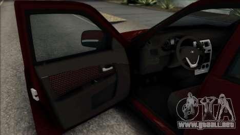 Lada Priora Ukrainian Stance para GTA San Andreas vista hacia atrás