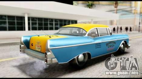 GTA 5 Declasse Cabbie v2 IVF para GTA San Andreas vista posterior izquierda