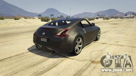 GTA 5 Nissan 370z v2.0 vista lateral izquierda trasera