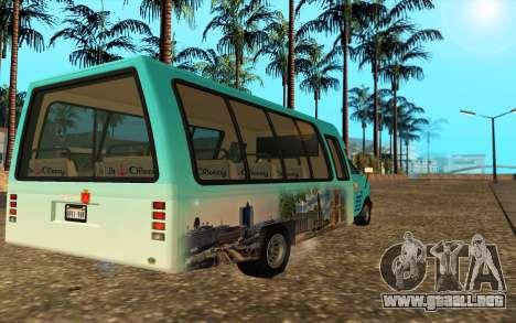 Iveco Custom Odessa para GTA San Andreas left