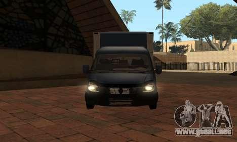 GAZelle 33023 Nova Poshta para GTA San Andreas vista hacia atrás