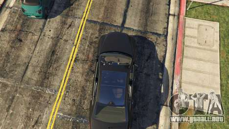 GTA 5 Mercedes-Benz E63 AMG Unmarked Cruiser vista trasera