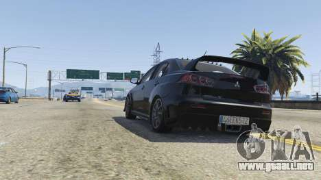 GTA 5 Mitsubishi Lancer Evolution X FQ-400 v2 vista lateral derecha