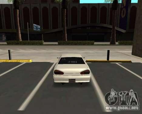 Elegy C35 para GTA San Andreas vista posterior izquierda