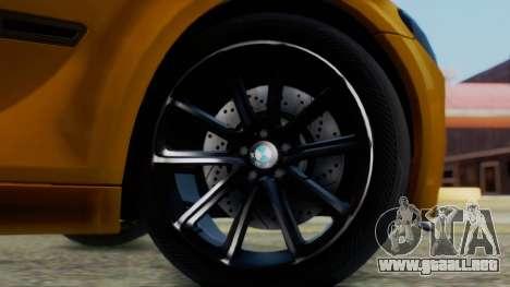 BMW 750Li M Sport para GTA San Andreas vista posterior izquierda