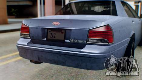 GTA 5 Vapid Stanier II IVF para visión interna GTA San Andreas